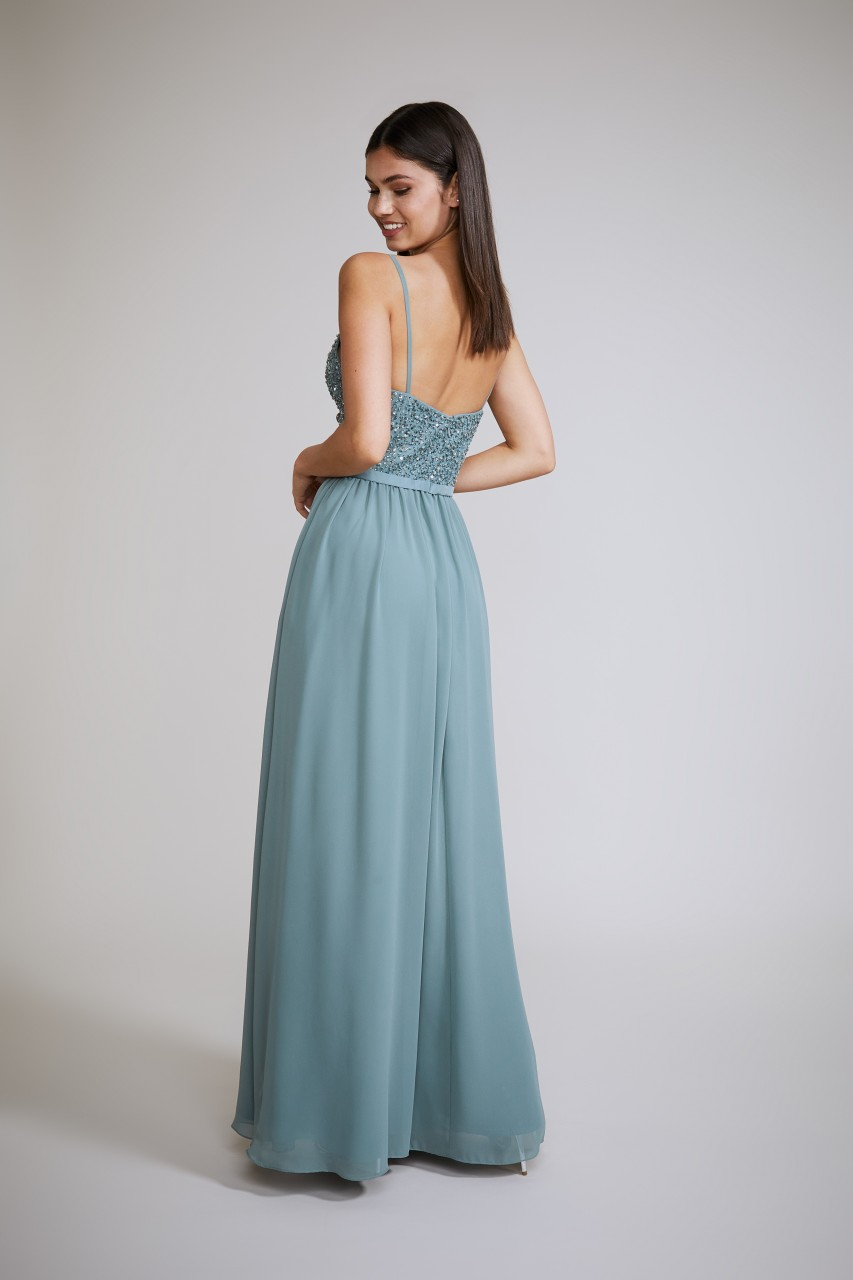 PEARLS & BEADS MAXI DRESS
