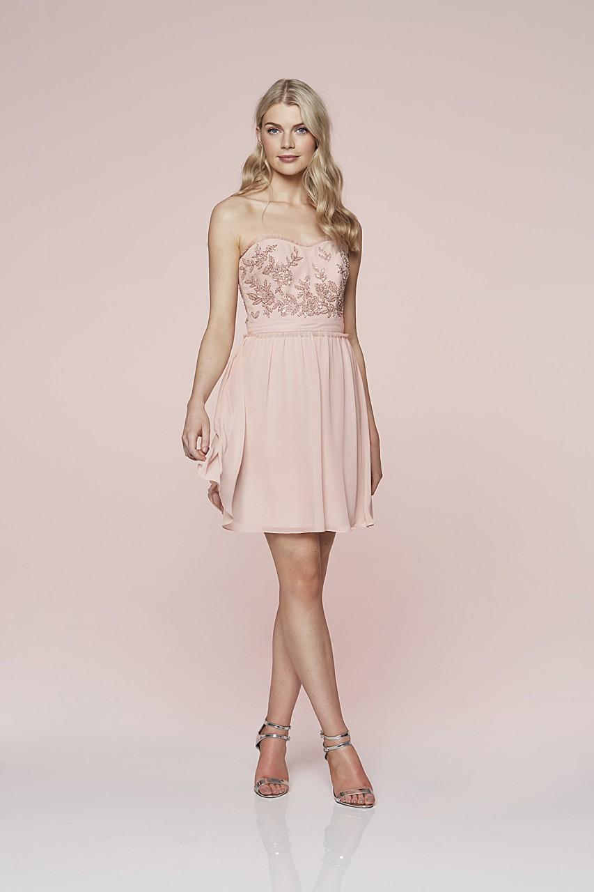 Floral Beaded Chiffon Dress