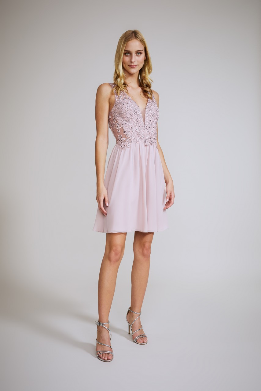 LACE STUNNER COCKTAIL DRESS
